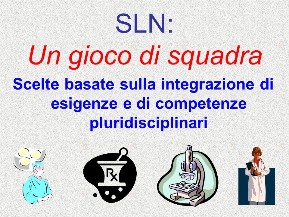 SLN: Un gioco di squadra Scelte basate sulla integrazione di esigenze e di competenze pluridisciplinari
