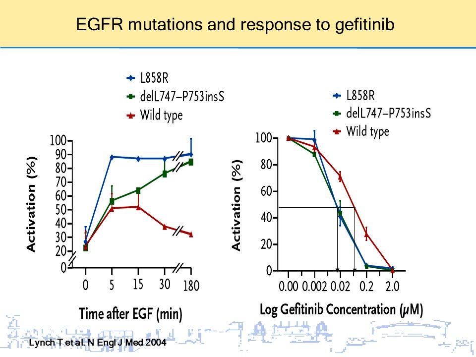 Lynch T et al. N Engl J Med 2004 EGFR mutations and response to gefitinib
