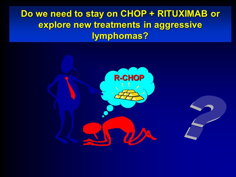 Do we need to stay on CHOP + RITUXIMAB or explore new treatments in aggressive lymphomas? R-CHOP