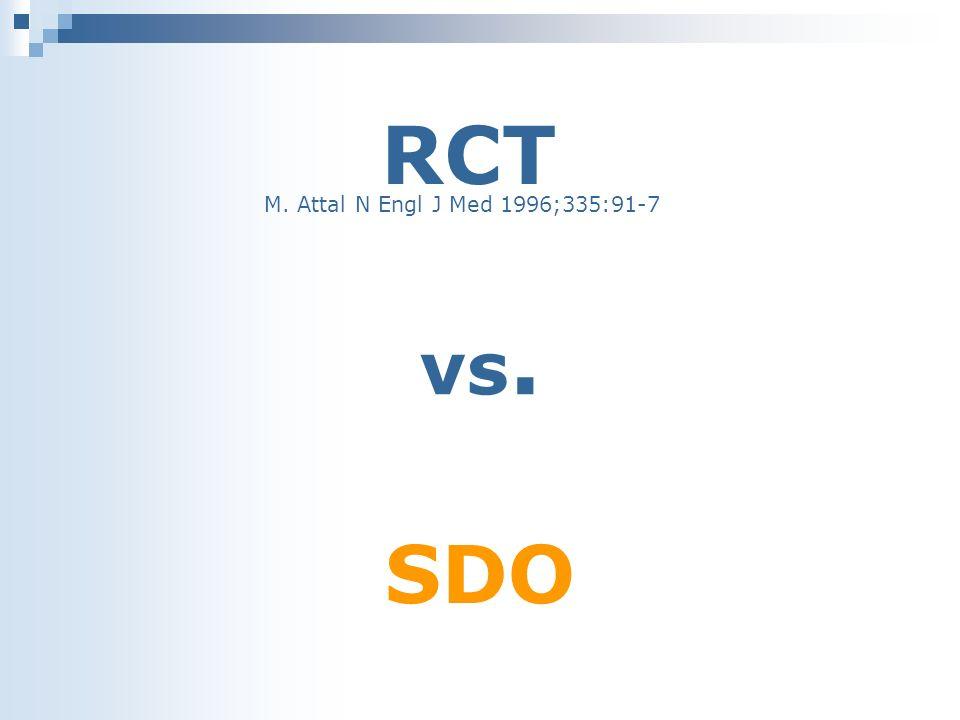 RCT M. Attal N Engl J Med 1996;335:91-7 vs. SDO