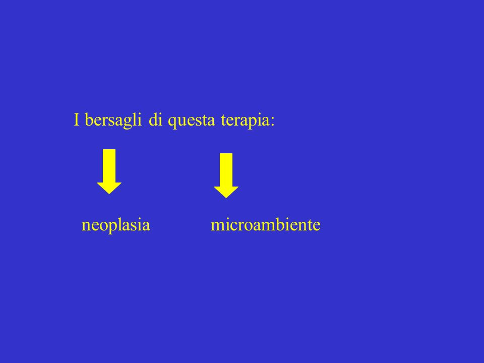 I bersagli di questa terapia: microambienteneoplasia