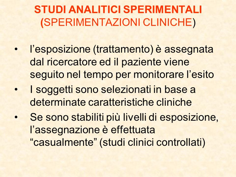 Impatto dei criteri di esclusione Si consiglia di riportare nel testo il seguente schema These counts indicate whether trial participants were likely to be representative of all patients seen; they are relevant to assessment of external validity only, and they are often not available A total of 45 patients were ineligible (15 in the interferon group, 17 in the temsirolimus group, and 13 in the combination-therapy group), and 10 patients did not receive any treatment (7 in the interferon group, 1 in the temsirolimus group, and 2 in the combination-therapy group).