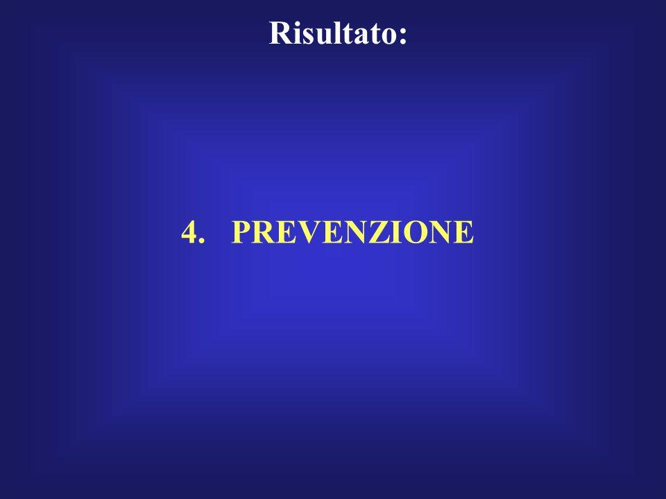 Risultato: 4. PREVENZIONE