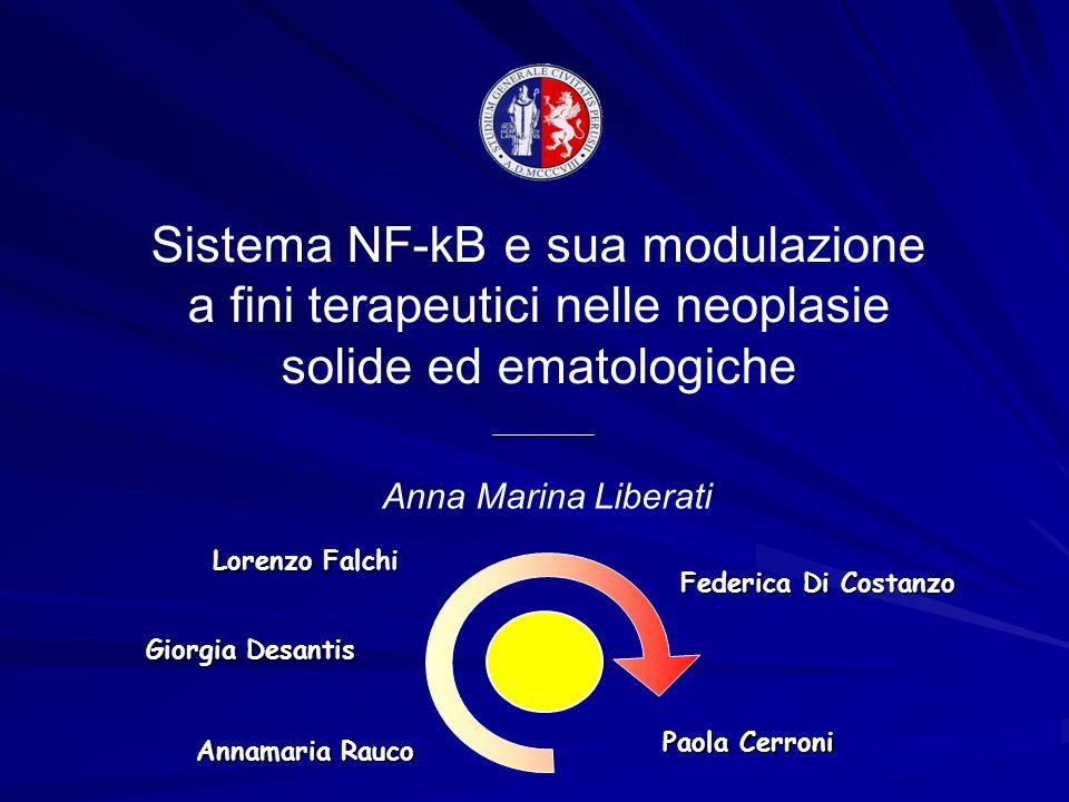 Sistema NF-kB e sua modulazione a fini terapeutici nelle neoplasie solide ed ematologiche Anna Marina Liberati Lorenzo Falchi Giorgia Desantis Annamar