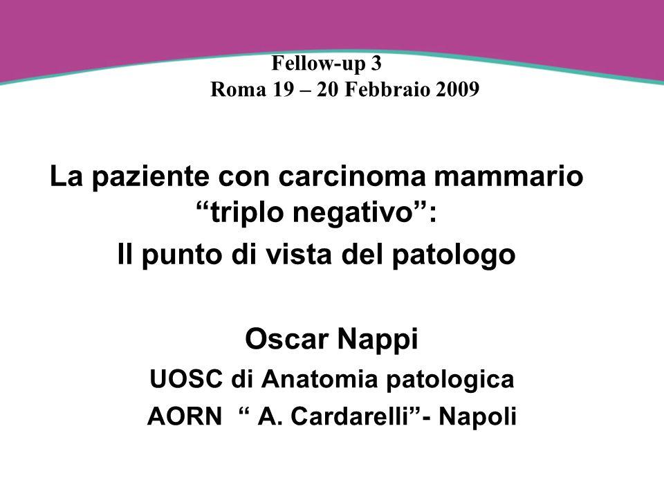 La paziente con carcinoma mammario triplo negativo: Il punto di vista del patologo Oscar Nappi UOSC di Anatomia patologica AORN A. Cardarelli- Napoli
