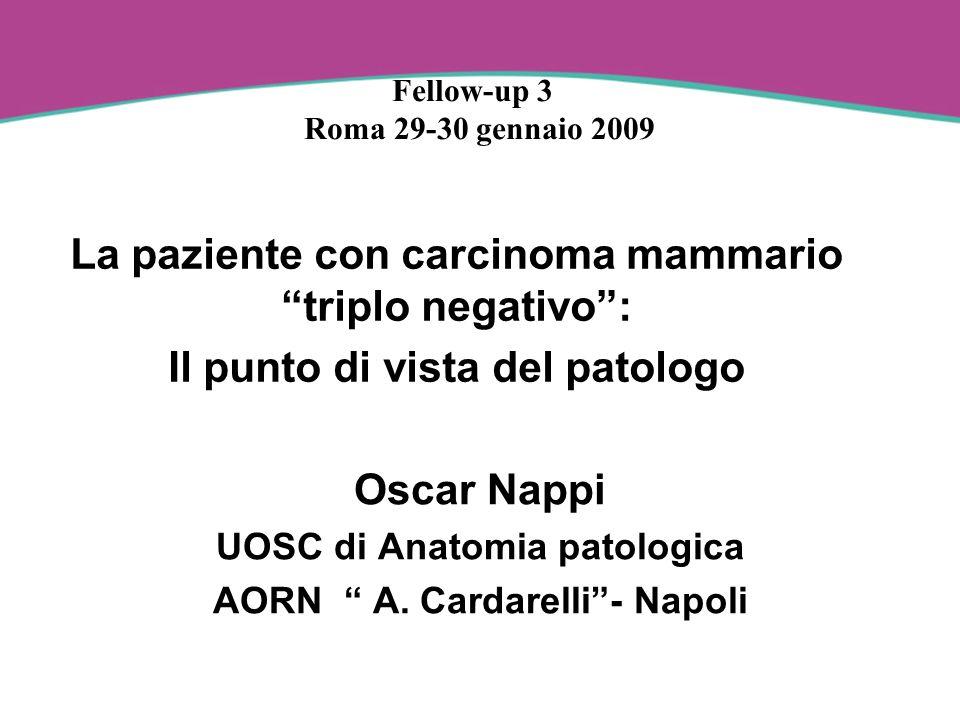 Carcinoma mammario triplo negativo Coincide con Basale-like breast cancer ( Basal phenotype ) ?