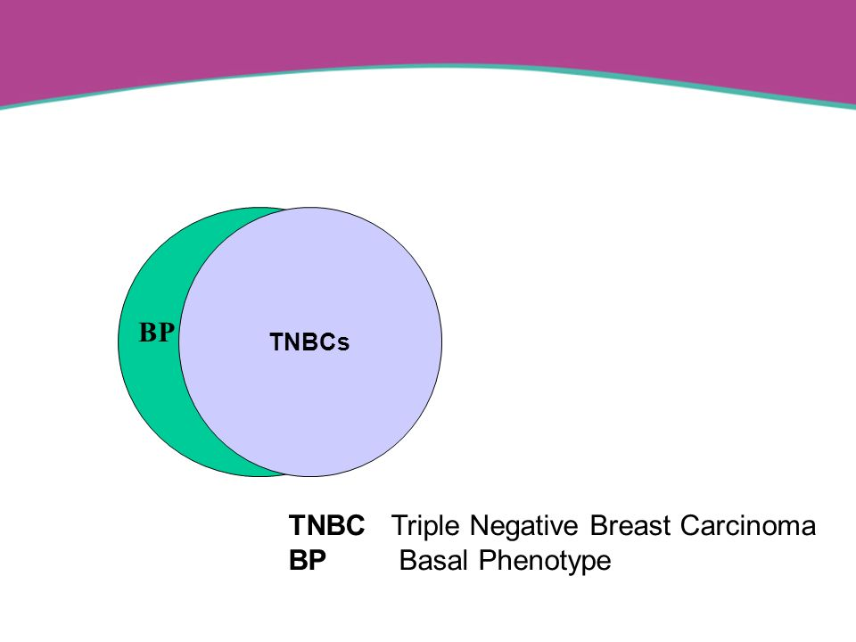 TNBCs TNBC Triple Negative Breast Carcinoma BP Basal Phenotype BP