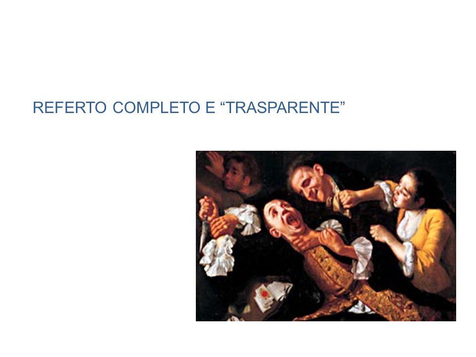 REFERTO COMPLETO E TRASPARENTE