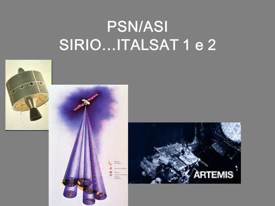 PSN/ASI SIRIO…ITALSAT 1 e 2