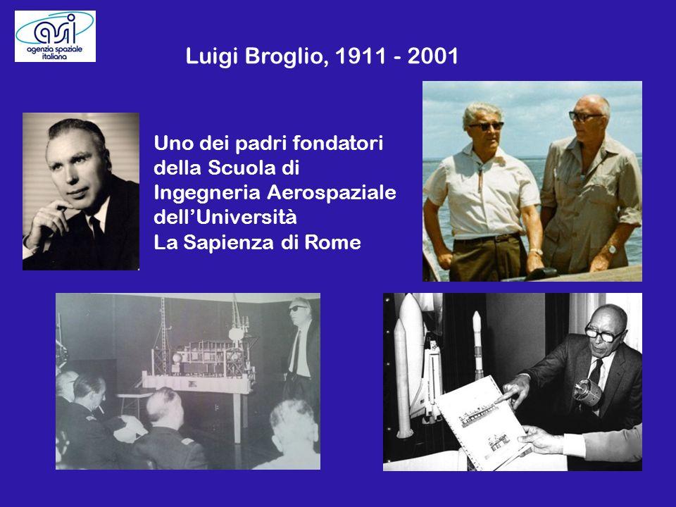 Luigi Broglio, 1911 - 2001 Uno dei padri fondatori della Scuola di Ingegneria Aerospaziale dellUniversità La Sapienza di Rome