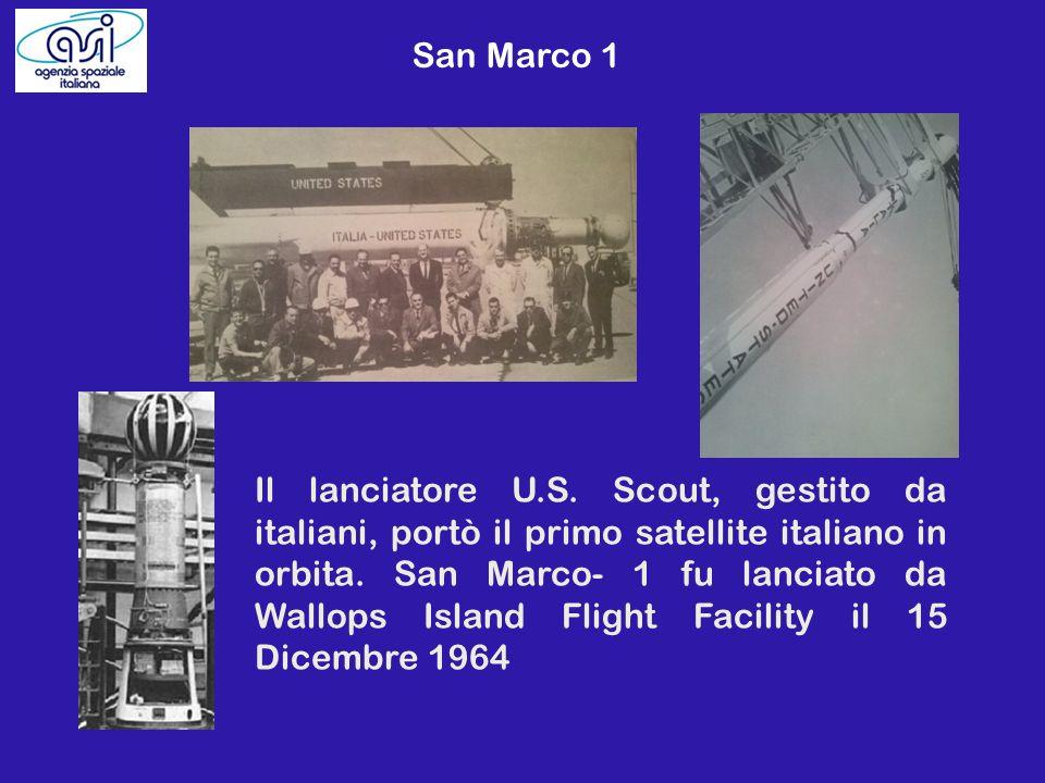 Il lanciatore U.S. Scout, gestito da italiani, portò il primo satellite italiano in orbita. San Marco- 1 fu lanciato da Wallops Island Flight Facility