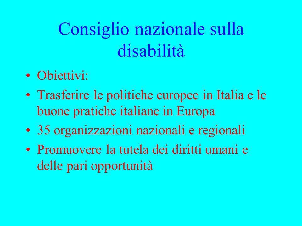 European Disability Forum 17 consigli nazionali sulla disabilità 80 associazioni europee sulla disabilità www.edf-feph.org
