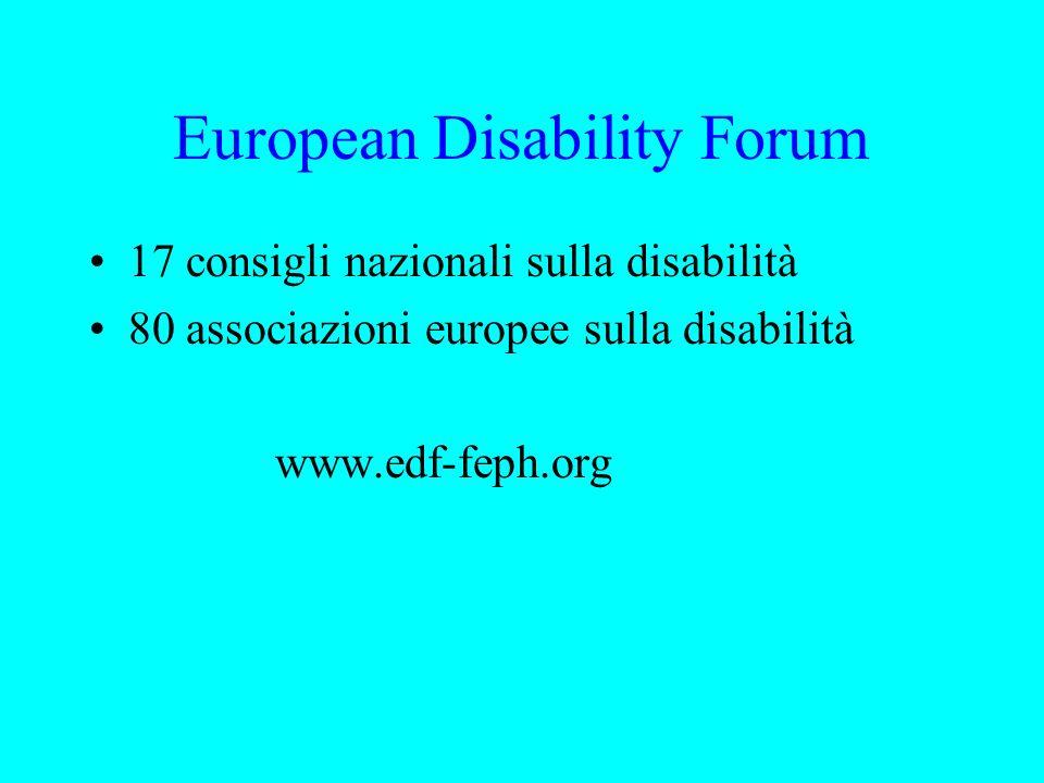 2003 Anno europeo delle persone con disabilità Dichiarazione di Madrid 2002