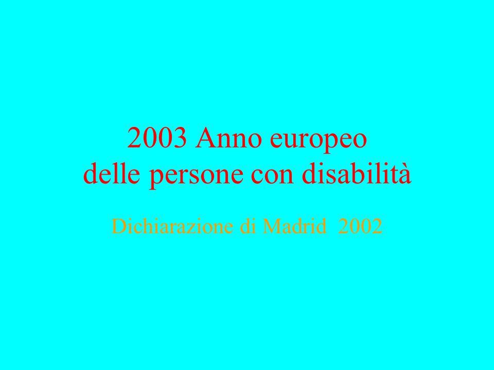 Cambio di paradigma Modello medico della disabilità Modello sociale della disabilità basato sui diritti umani