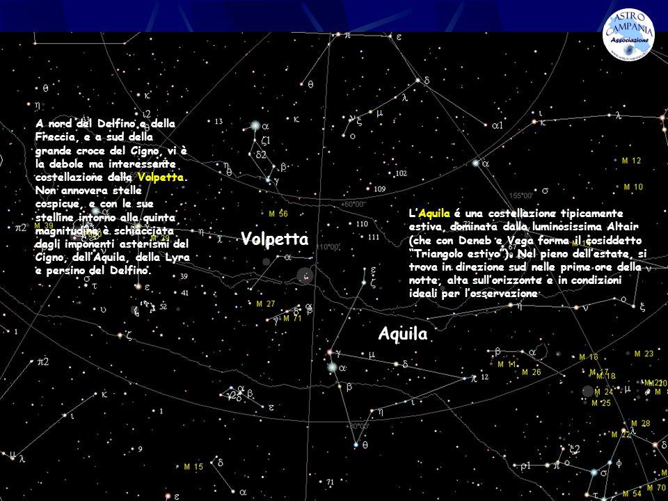 M 27 Nebulosa planetaria M27 (NGC 6853), tipo 3a+2, nella Volpetta Nebulosa manubrio (Dumbbell Nebula) fu la prima nebulosa planetaria ad essere scoperta.