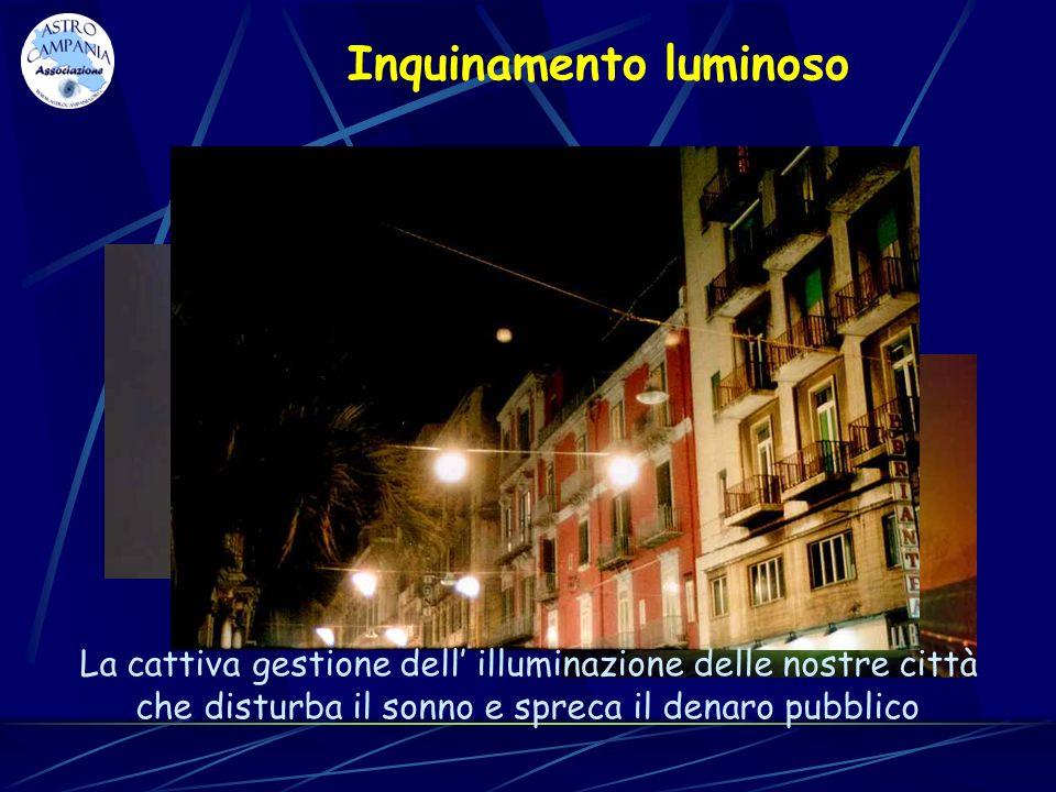 Inquinamento luminoso Luso indiscriminato dei fari pubblicitari mal posizionati e fuori norma La cattiva gestione dell illuminazione delle nostre citt