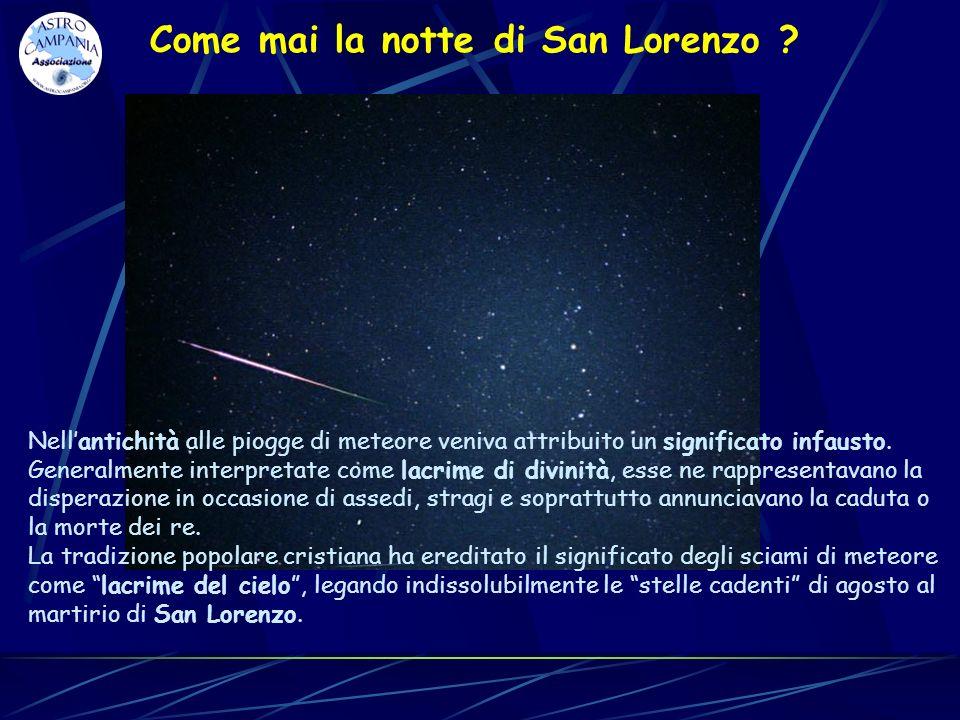 Nellantichità alle piogge di meteore veniva attribuito un significato infausto. Generalmente interpretate come lacrime di divinità, esse ne rappresent