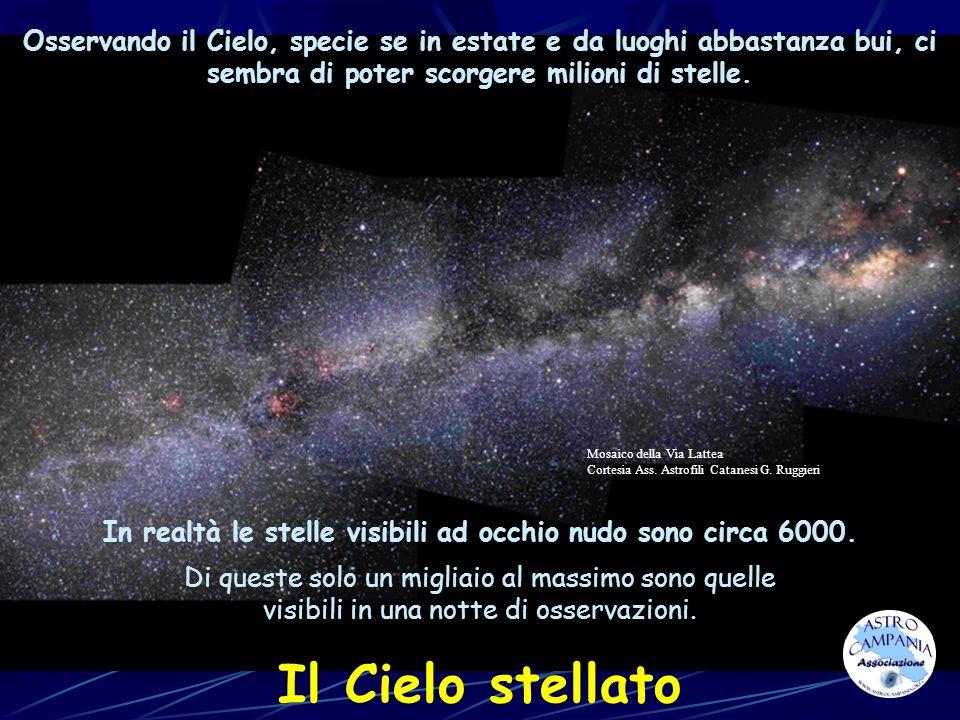 Osservando il Cielo, specie se in estate e da luoghi abbastanza bui, ci sembra di poter scorgere milioni di stelle. Il Cielo stellato Di queste solo u