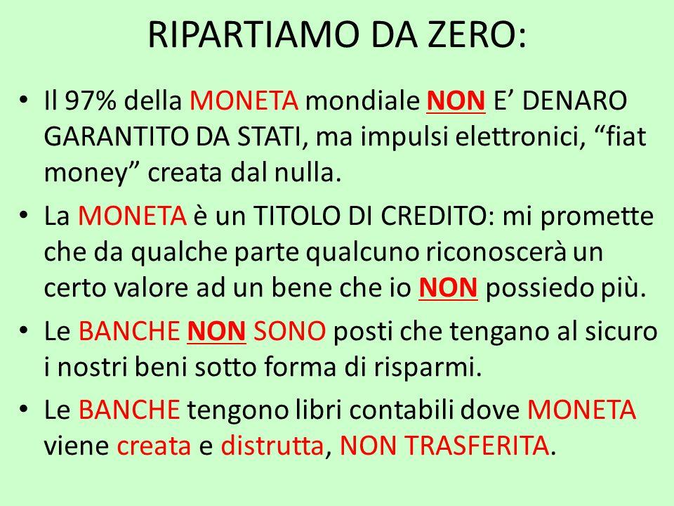 Le Banche BANCHE CENTRALI: debbono assistere lo Stato a moneta sovrana nel monetizzare ex-ante beni e servizi, a SOMMA POSITIVA.