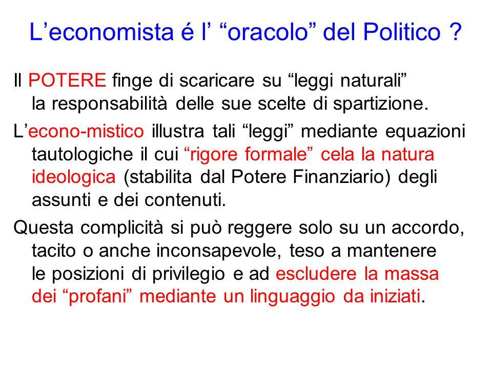 Leconomista é l oracolo del Politico .