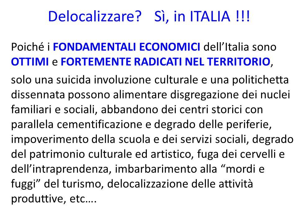 Delocalizzare.Sì, in ITALIA !!.