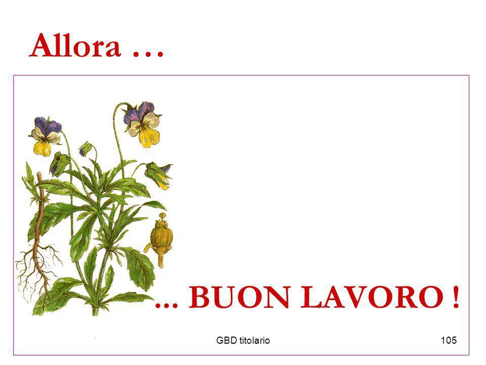 GBD titolario105 Allora …... BUON LAVORO !