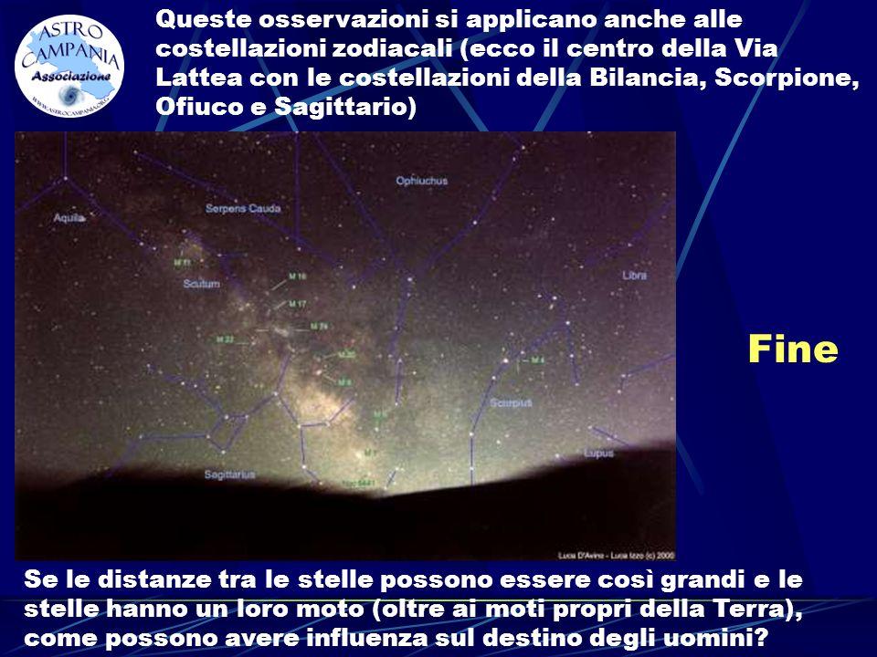 Fine Queste osservazioni si applicano anche alle costellazioni zodiacali (ecco il centro della Via Lattea con le costellazioni della Bilancia, Scorpio
