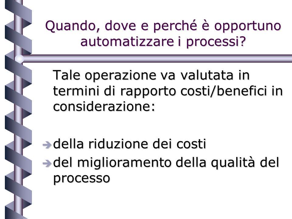 Quando, dove e perché è opportuno automatizzare i processi.