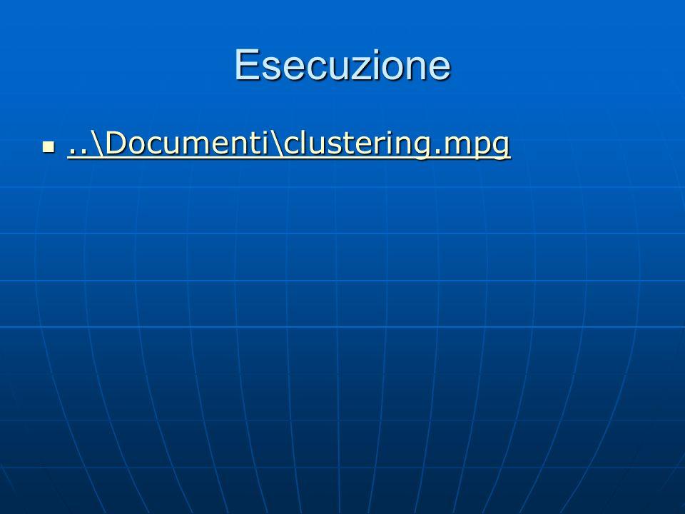 Esecuzione..\Documenti\clustering.mpg..\Documenti\clustering.mpg..\Documenti\clustering.mpg