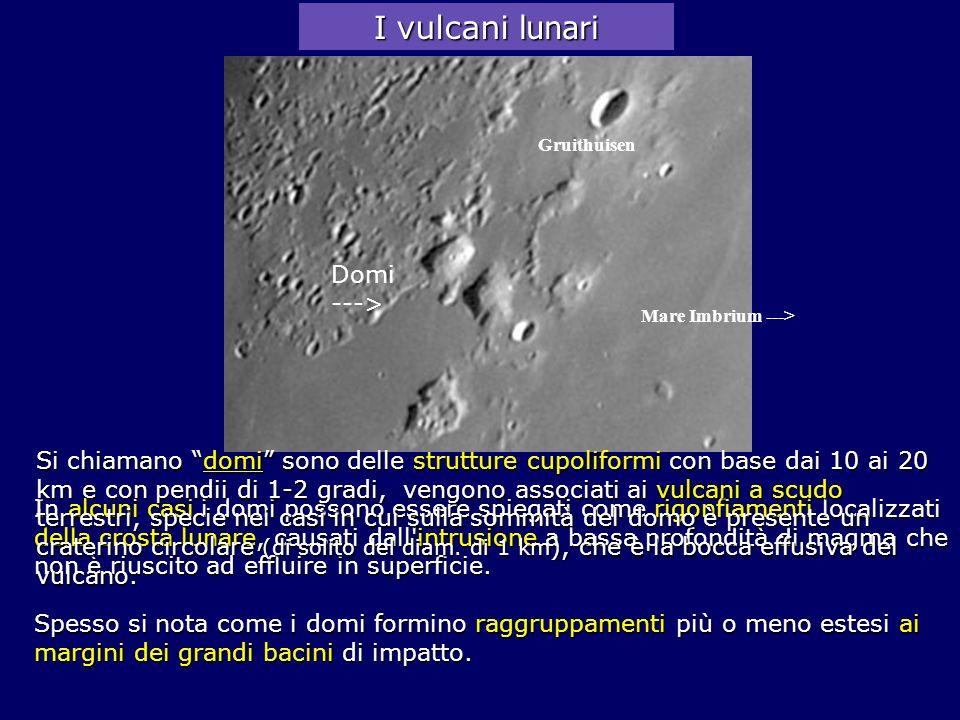 In alcuni casi i domi possono essere spiegati come rigonfiamenti localizzati della crosta lunare, causati dall'intrusione a bassa profondità di magma