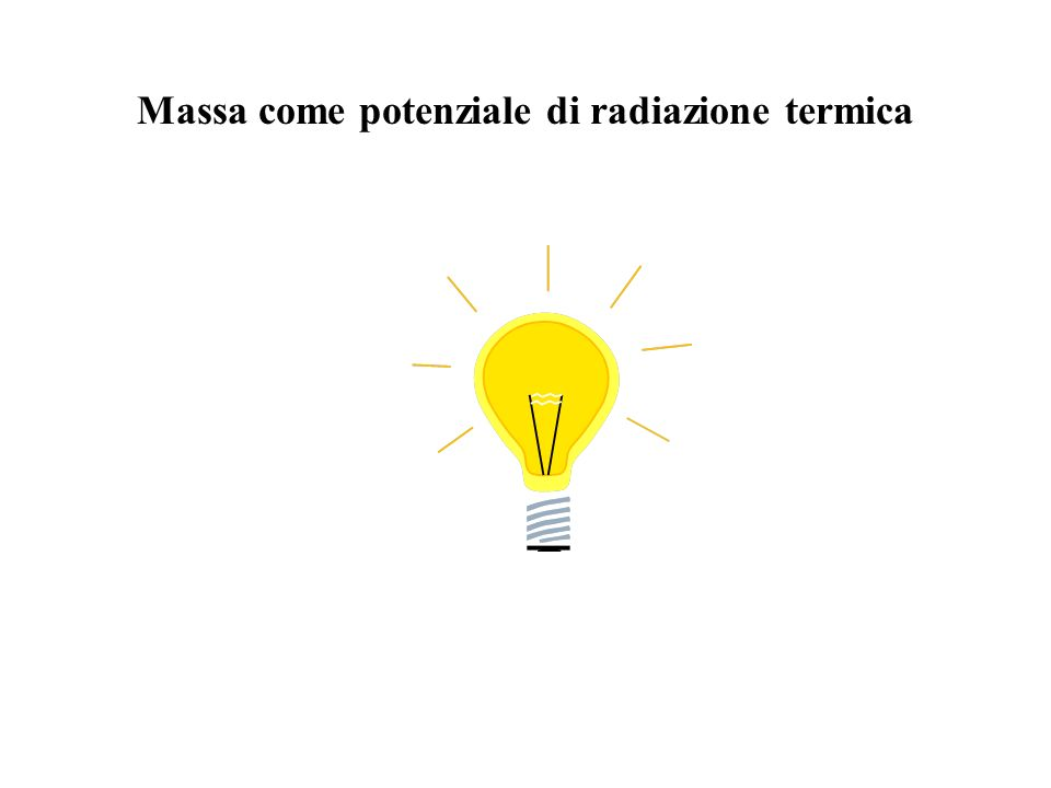 Massa come potenziale di radiazione termica