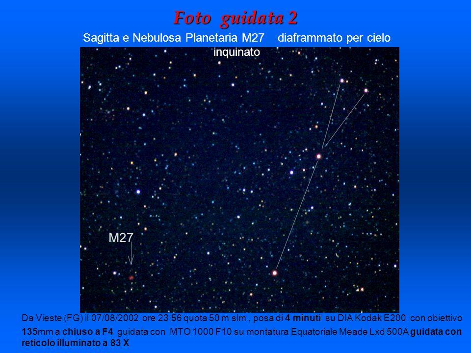 Foto guidata 2 Da Vieste (FG) il 07/08/2002 ore 23:56 quota 50 m slm, posa di 4 minuti su DIA Kodak E200 con obiettivo 135mm a chiuso a F4 guidata con