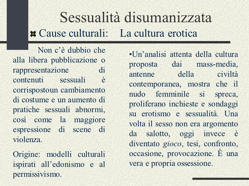 Significato della sessualità Sessualità un problema o un mistero.