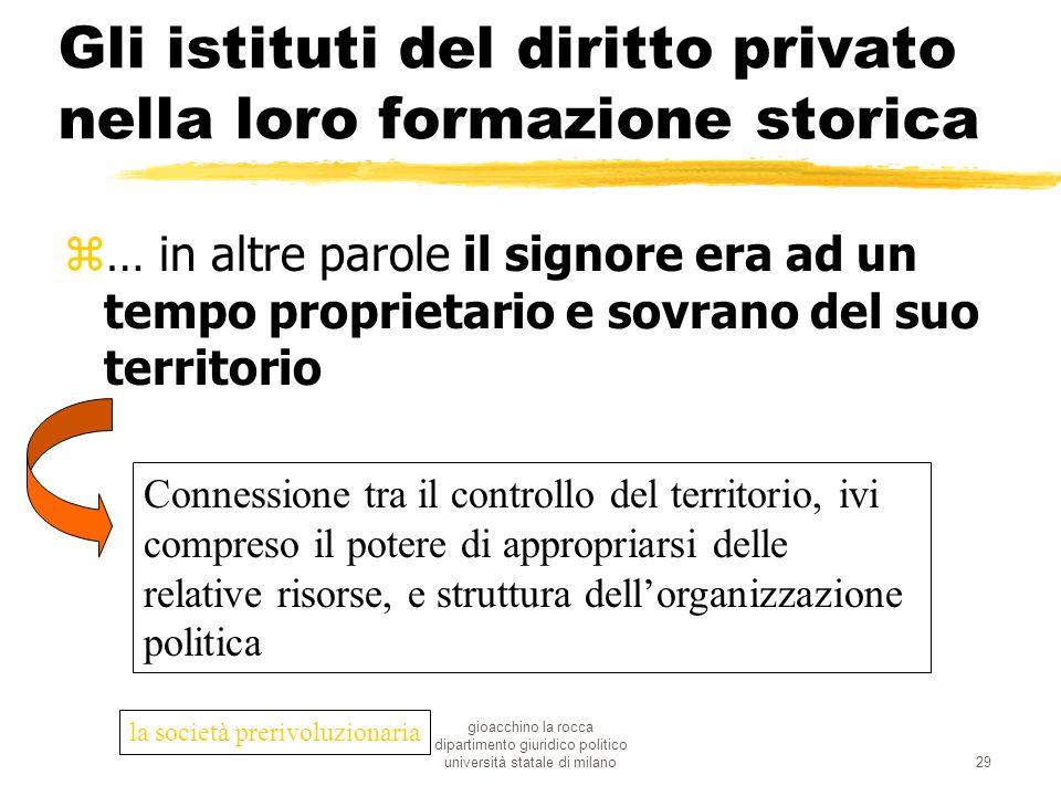 gioacchino la rocca dipartimento giuridico politico università statale di milano29 Gli istituti del diritto privato nella loro formazione storica z… i
