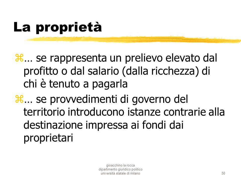 gioacchino la rocca dipartimento giuridico politico università statale di milano50 La proprietà z… se rappresenta un prelievo elevato dal profitto o d