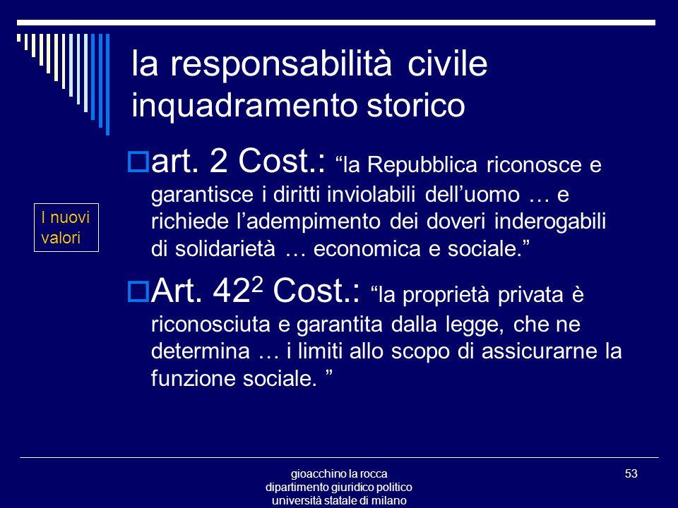 gioacchino la rocca dipartimento giuridico politico università statale di milano 53 la responsabilità civile inquadramento storico art.