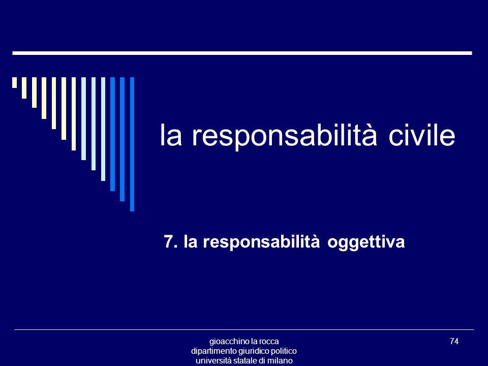 gioacchino la rocca dipartimento giuridico politico università statale di milano 74 la responsabilità civile 7.
