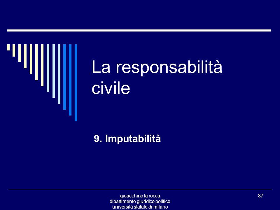 gioacchino la rocca dipartimento giuridico politico università statale di milano 87 La responsabilità civile 9.