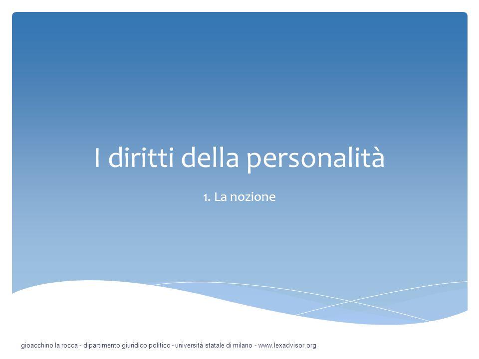 I diritti della personalità 7.