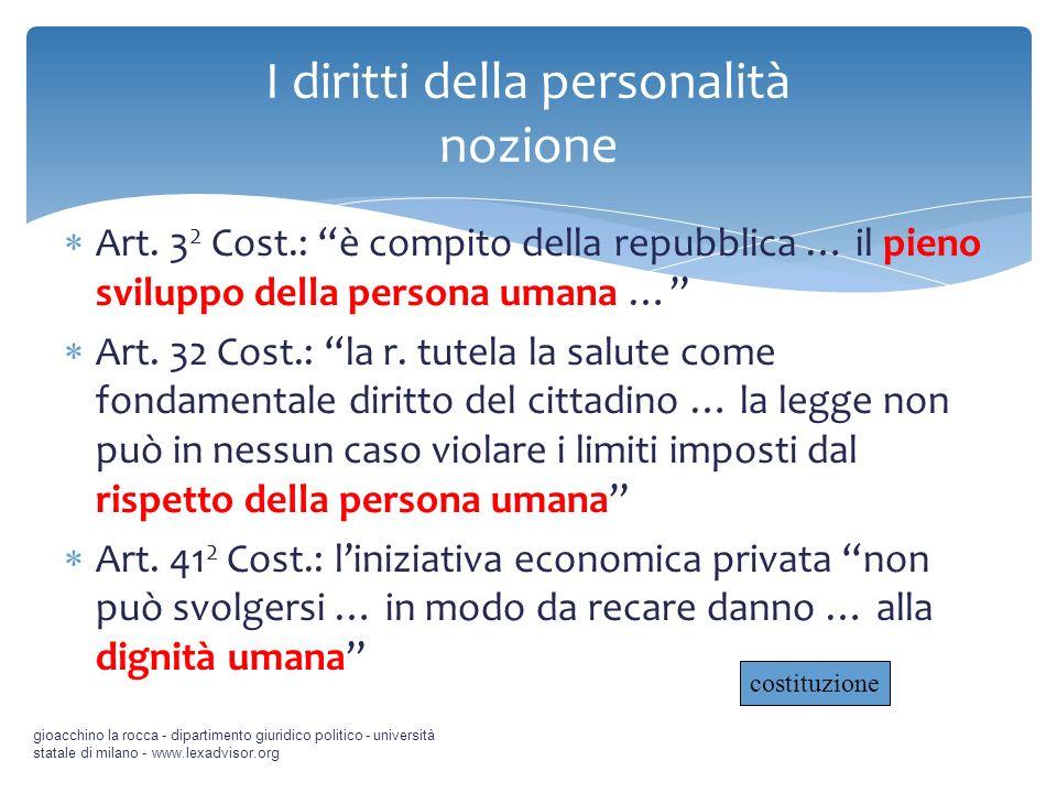 I diritti della personalità 3.