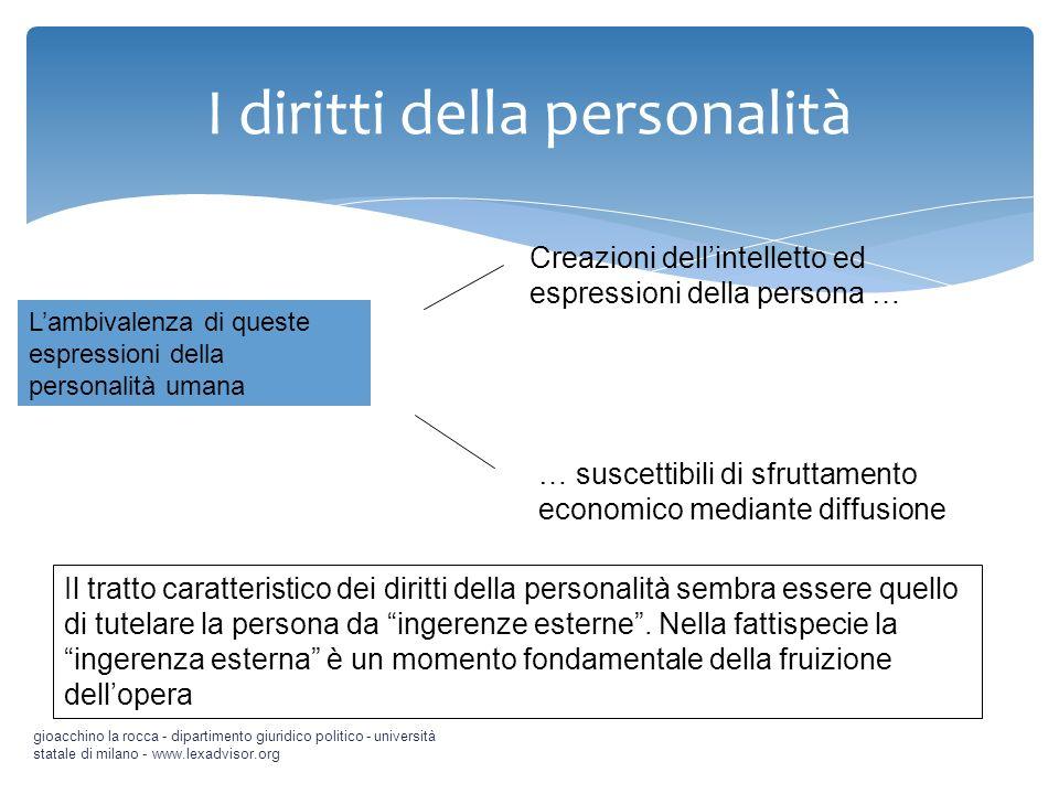 I diritti della personalità gioacchino la rocca - dipartimento giuridico politico - università statale di milano - www.lexadvisor.org Lambivalenza di