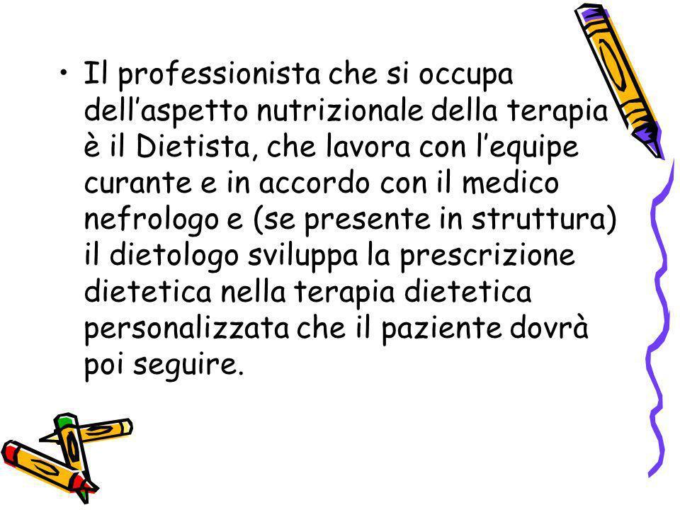 DIETA IPOPROTEICA SEVERA Viene utilizzata quando la creatinina è superiore ai 2 mg % Fornisce 0.6 g/kg peso corporeo che si traducono: –Uomo apporto proteico compreso tra 35 e 45 g –Donna apporto proteico tra 30 e 42 g