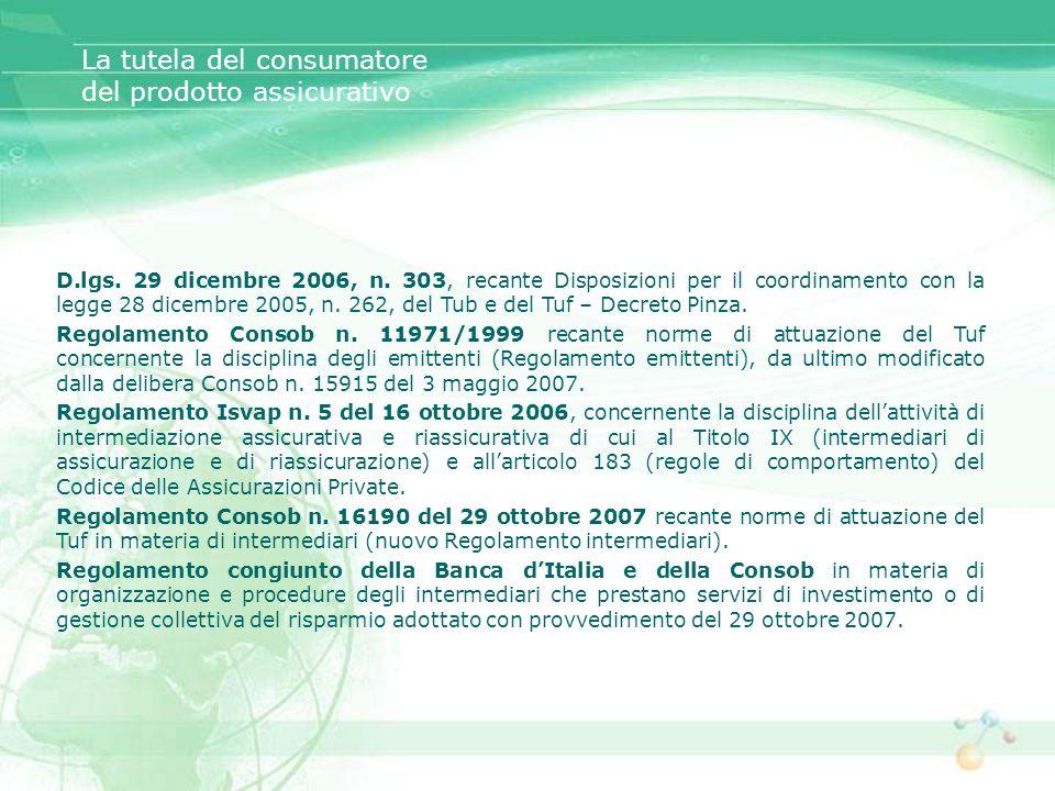 D.lgs. 29 dicembre 2006, n. 303, recante Disposizioni per il coordinamento con la legge 28 dicembre 2005, n. 262, del Tub e del Tuf – Decreto Pinza. R