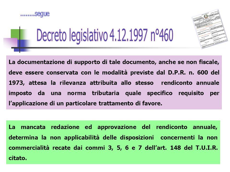 La documentazione di supporto di tale documento, anche se non fiscale, deve essere conservata con le modalità previste dal D.P.R.