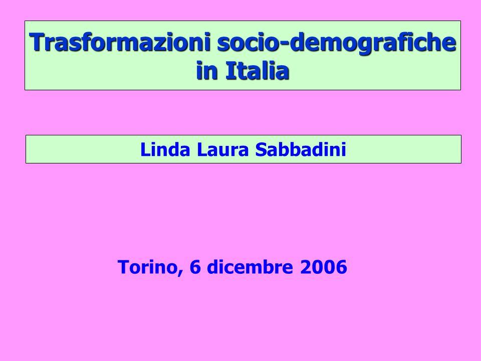 Trasformazioni socio-demografiche in Italia Linda Laura Sabbadini Torino, 6 dicembre 2006
