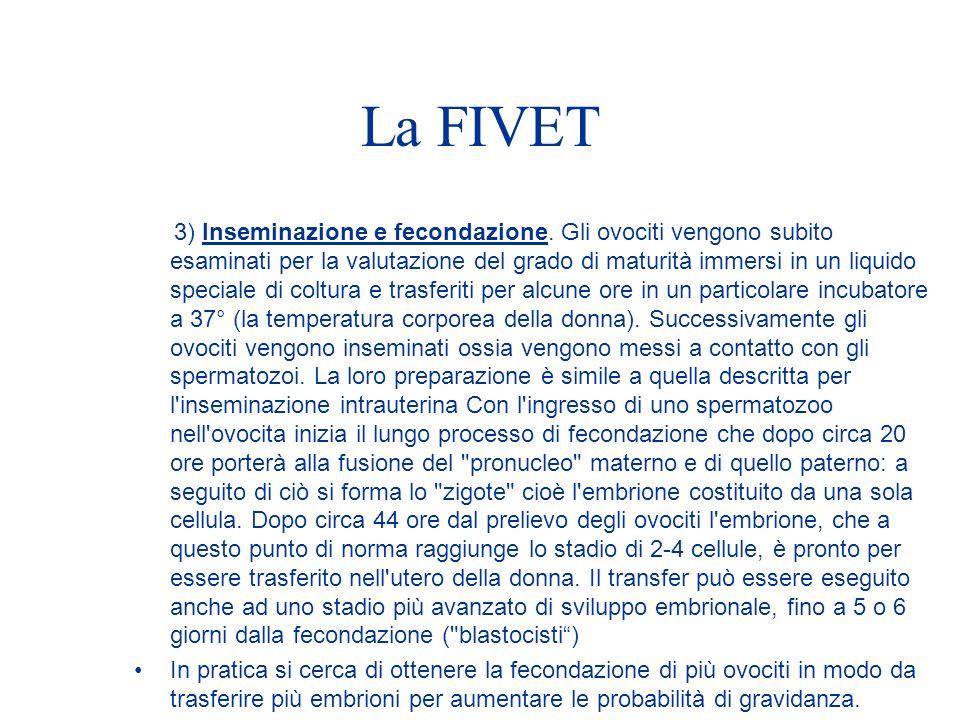 La FIVET 3) Inseminazione e fecondazione.