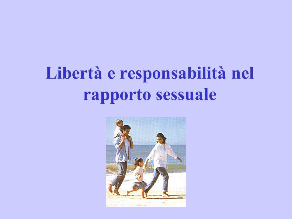 Libertà e responsabilità nel rapporto sessuale