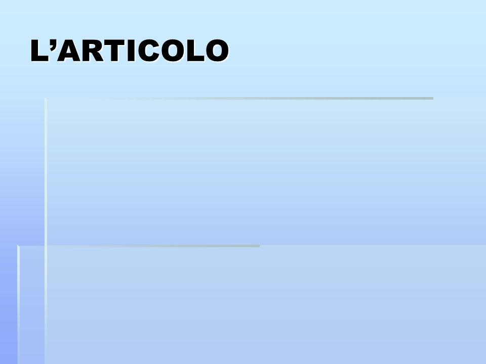 LARTICOLO