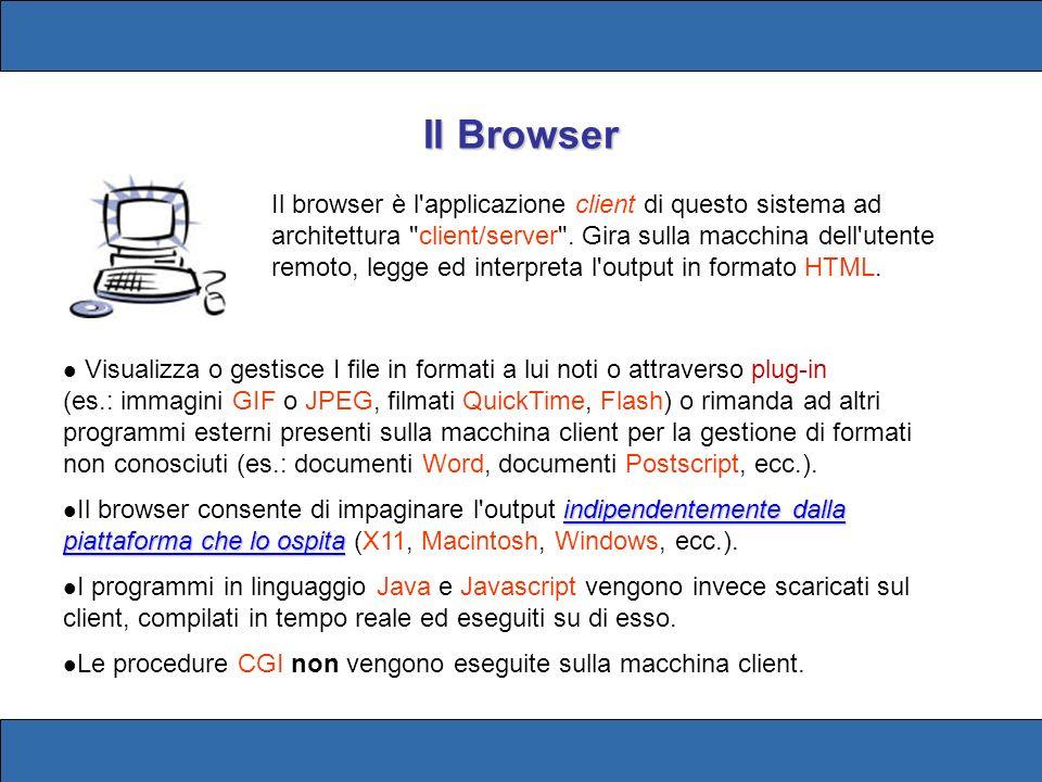 Titolo della pagina Ogni pagina HTML deve avere un titolo.