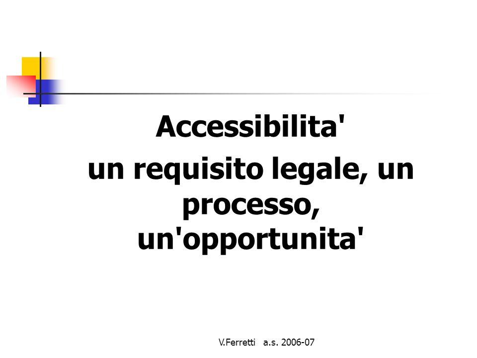V.Ferretti a.s.2006-07 linee guida (cont) Usare soluzioni temporanee.
